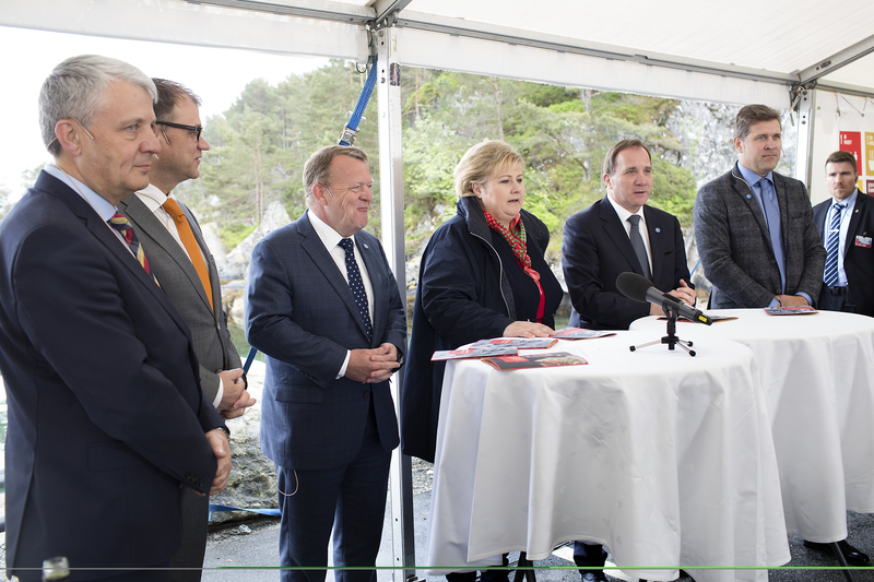 "Dagfinn Høybråten, Juha Sipilä, Lars Løkke Rasmussen, Erna Solberg, Stefan Löfven & Bjarni Benediktsson at the launch of the Nordic prime ministers' initiative ""Nordic Solutions to Global Challenges"", May 2017"