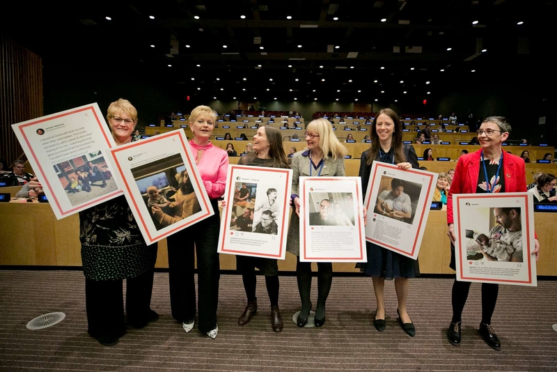 Share the care! The Nordic ministers for gender equality invited fathers to show support for shared and paid parental leave at the CSW63.