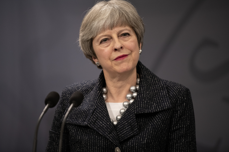 Theresa May gästar Nordiska rådets session 2018.
