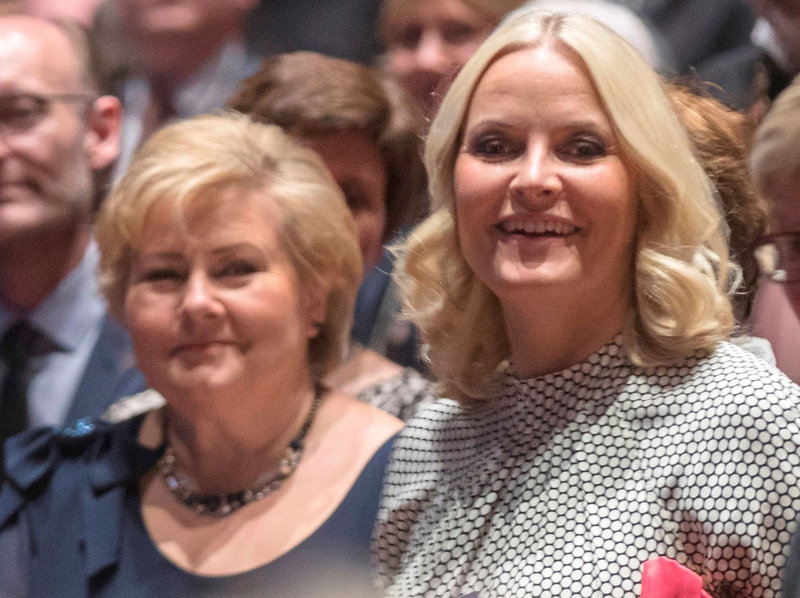 Erna Solberg and Mette Marit