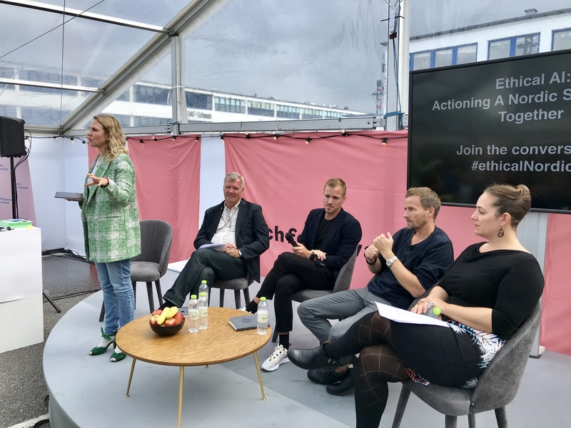 Panellists at workshop - Ethical AI: Actioning a Nordic Stronghold Together, Techfestival 2019
