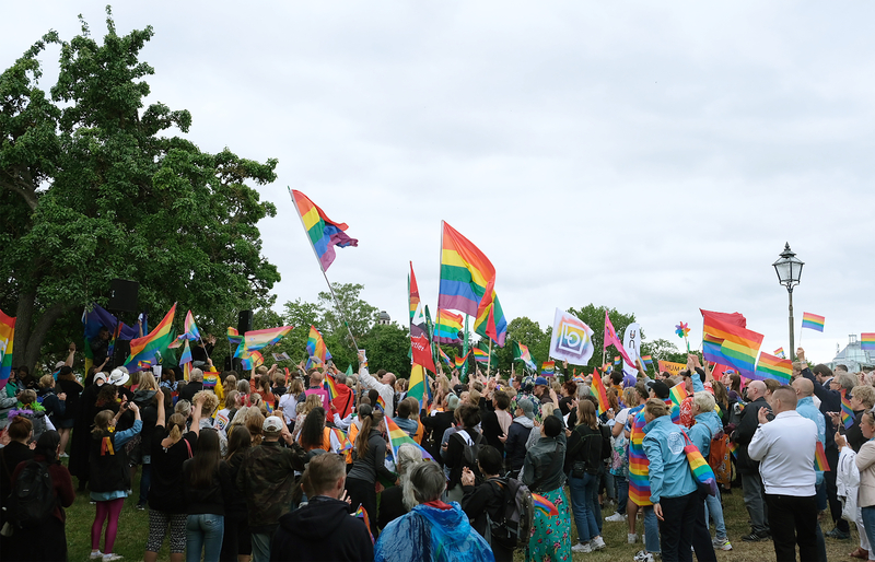 A demonstration at Pride