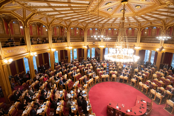 Overblik over Plenum, Stortinget, Nordisk Råds Session 2018