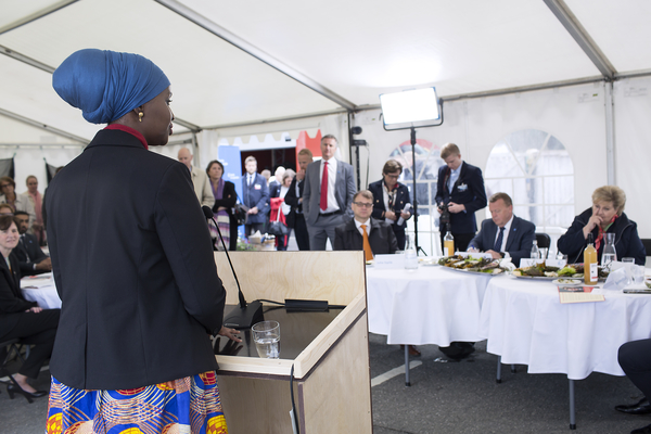 "Fadumo Q Dayib at the launch of the Nordic prime ministers' initiative ""Nordic Solutions to Global Challenges"", May 2017"