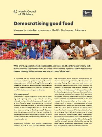 Democratising good food   Nordic cooperation