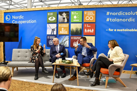 Podcast recording at COP24. How can we eat our way to a green and healthy future?