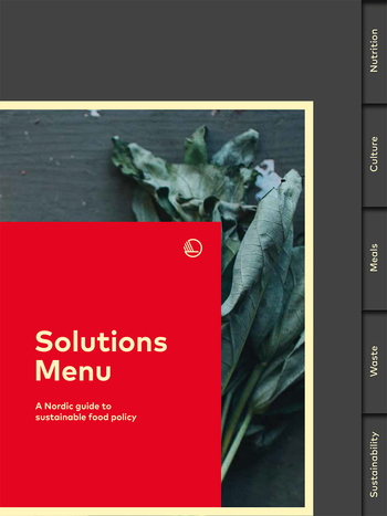 Cover of the Solutions Menu publication
