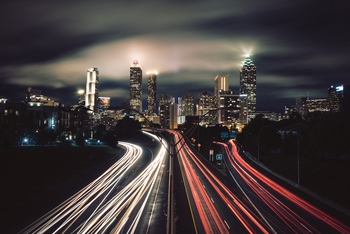 Time-lapse photography of city night lights