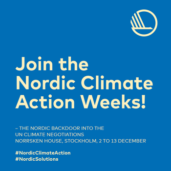 Nordic Climate Action Weeks 2019
