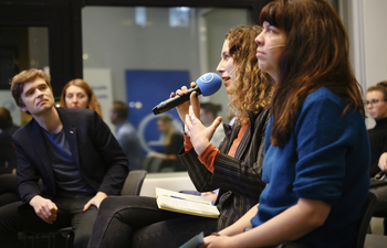 Woman speaking at a debate at Nordic Climate Action Weeks in Stockholm