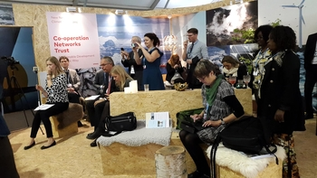 Participants at our morning talk at the Nordic pavilion at COP22, UN Climate negotiations in Marrakech 2016